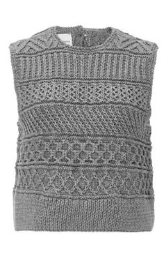 Spencer Vladimir, The Fisherman Hand Knit Sleeveless Top $600. Designers Allyson Spencer and Vladimir Teriokhin deliver innovative, personality-filled sweaters entirely knit or crocheted by hand in New York. This **Spencer Vladimir** top features alternating stitches and a partially open back for a modern take on knitwear.