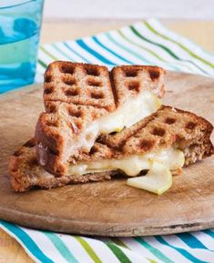 Waffle Iron Grilled Cheese | Working Mother You could do this for breakfast and use peanut butter Nutella/jelly.