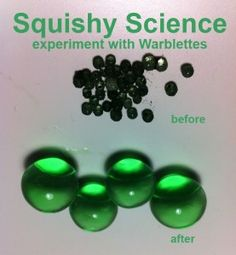Experiment ideas for balls that grow in water