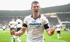 March 22nd. 2014: Derby County humiliate Nottingham Forest to boost their promotion hopes and Craig Bryson celebrates a remarkable hat-trick.