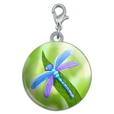 Watercolorful Dragonfly Stainless Steel Pet Dog ID Tag >>> You can get more details by clicking on the image.
