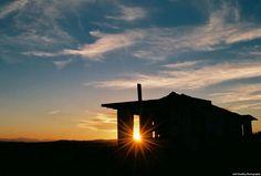 Silhouette of an abandoned house Grandview California Nikon N55 Kodak Ektar 100 speed film [OS] [OC] [1337 X 903]
