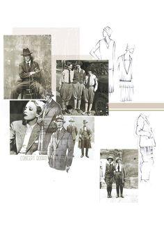 BOONSITA SINGHTOTHONG | LINES AND CURVES: NOSTALGIA. fashion design, fashion, portfolio, layout, art, drawing, sketching, research, 1920s