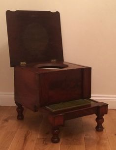 Great Antique Victorian Georgian Mahogany Bed Steps Concealed Commode Chamber Pot