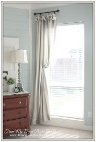 Add Fabric To Top And Bottom Of Curtains Pop Of Color