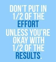 Half results for half efforts effort exercise fitness quotes workout quotes exercise quotes results fitspiration Motivation Positive, Fitness Motivation, Daily Motivation, Fitness Quotes, Weight Loss Motivation, Motivation Inspiration, Fitness Inspiration, Quotes Motivation, Athlete Motivation