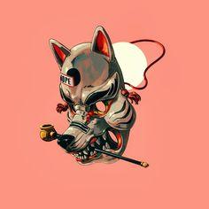 • _____________________________________ #illustration #illustrationoftheday #drawing #jordiros #art #artist #artwork #design #graphics #visuals #graphicdesign #instaartist #artsanity #artfido #illustrationartists #gfxmob #illustrationage #applepencil #ipad #procreate #madeinbarcelona #art_collective #mask #japan #dog Jor Ros ©2018 Japanese Mask, Japanese Tattoo Art, Illustrations, Illustration Art, Mask Drawing, Arte Cyberpunk, Samurai Art, Masks Art, Dope Art