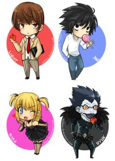 Hey dudes I'm not gonna be on here for the next 3 weeks, I'm travelling and not sure if there'll be wifi or anything, so yeah... Here's a cute death note pic! ^-^