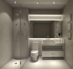 Projeto do escritório Atelier da Reforma - Render SketchUp + V_ray - Banho do casal