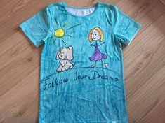 Follow your dreams 😊 make your own T-shirt! Make Your Own, Make It Yourself, How To Make, Dreaming Of You, Dreams, Mens Tops, T Shirt, Supreme T Shirt, Tee Shirt