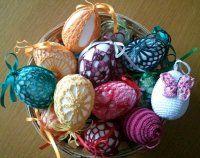 NÁVODY HÁČKOVÁNÍ Easter Crochet, Knit Crochet, Easter Eggs, Knitting, Holiday, Wood, Haha, Easter, Vacations