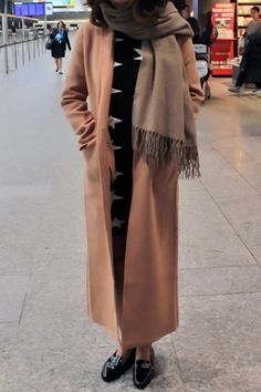 Solid Color Pockets Lapel Collar Long Sleeves Coat