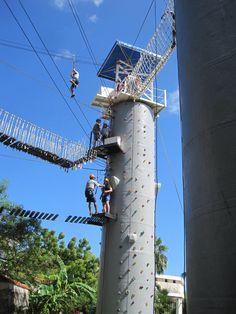 Ziplining in Cozumel, Mexico