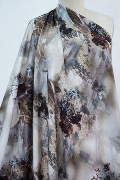 Marcy Tilton - NEW Fabrics - Gray Cranes Italian Viscose Challis