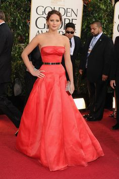Jennifer Lawrence at the Golden Globes 2013 (a Maddy Top Pick)