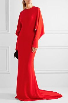 Lyst - Stella Mccartney Cutout Cady Gown in Red Holiday Dresses, Special Occasion Dresses, Wedding Attire, Wedding Gowns, Stella Mccartney, Drape Gowns, Fashion Themes, Women's Fashion, Cocktail Gowns