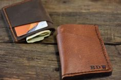 This FRONT POCKET WALLET is a personalized handmade and handstitched leather wallet that is perfect as a Groomsmen gift, Fathers Day gift, Boyfriend gift, Husband gift, Wedding Party, Birthday gift and the best Christmas Gift. Our leather wallets get better with age and the classic design will never go out of style.