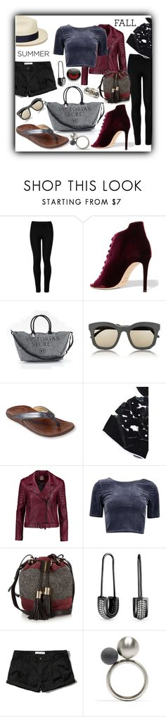 """Versatile Velvet"" by queenofsienna ❤ liked on Polyvore featuring Wolford, Jimmy Choo, Victoria's Secret, STELLA McCARTNEY, OluKai, Giorgio Armani, Haute Hippie, See by Chloé, Bling Jewelry and Abercrombie & Fitch"