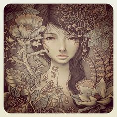 girl portrait illustration by the one & only: Audrey Kawasaki