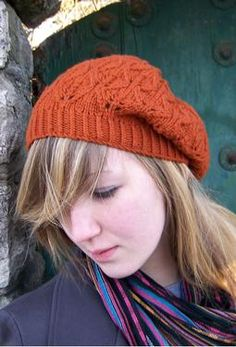 Falling Leaves Beret/Slouch Hat by Melissa Burke