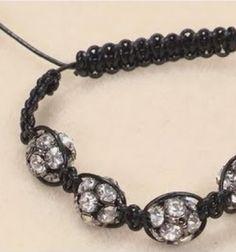 How to make a shamballa style bracelet - jewelry making // Shamballa stílusú csomózott karkötők - ékszerkészítés // Mindy - craft tutorial collection