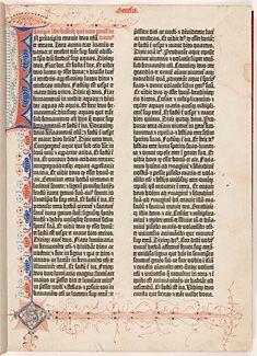 Gutenberg Bible, Harry Elkins Widener Collection, Harvard University, Cambridge, Massachusetts, U.S.A.