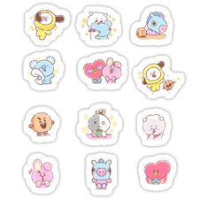 Buy Baby MANG Set' by as a Sticker, Transparent Sticker, or Glossy Sticker Pop Stickers, Tumblr Stickers, Kawaii Stickers, Printable Stickers, Journal Stickers, Planner Stickers, Bts Book, Bts Drawings, Bts Chibi