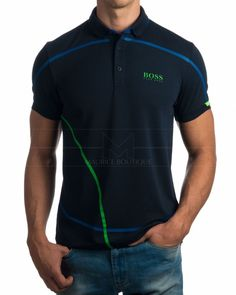 Polos Hugo Boss - Paddy MK Azul Marino Camisa Polo, Mens Polo T Shirts, Tee Shirts, Hugo Boss, Moda Men, Ralph Lauren Style, Moda Casual, Surf Wear, My T Shirt