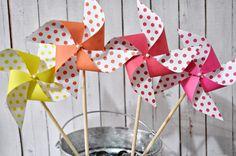 Polka dot spinning pinwheels by Msapple