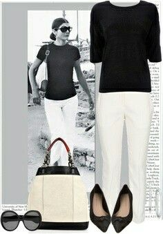 The Jackie Summer Casual Look - Jackie Style Jackie Kennedy Style, Dramatic Classic, Looks Black, White Pants, Look Chic, Mode Inspiration, Timeless Fashion, 70s Fashion, My Wardrobe