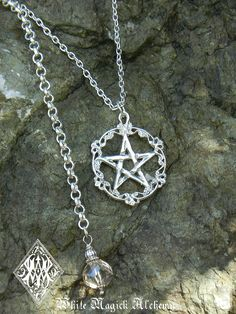 Love this!!! White Magick Alchemy - Old World Pentacle Pendant Necklace Solid Sterling Silver . Champagne Drop, $39.95 (http://www.whitemagickalchemy.com/old-world-pentacle-pendant-necklace-solid-sterling-silver-champagne-drop/)