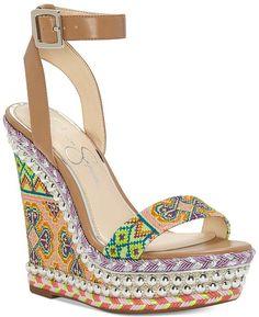 636812c0aece1 Jessica Simpson Alinda Woven Platform Wedge Sandals Shoes - Sandals   Flip  Flops - Macy s