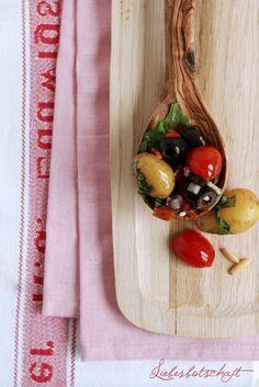 Liebesbotschaft: Mediterraner Kartoffelsalat