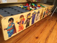 Lego u0026 Duplo Storage Table/Cabinet - Home made decals applied then epoxy resin ( & Lego u0026 Duplo Storage Table/Cabinet - Table designed to transform ...