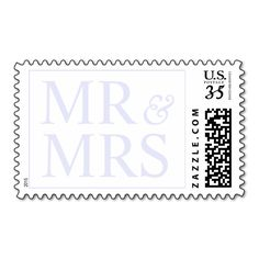 Weddings Beautiful Mr and Mrs Design Glitter Stamp