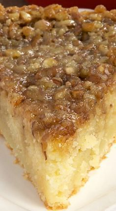 I'm allergic to pecans but this looks good! Pecan Pie Coffee Cake (desserts with nuts, breakfast recipes) Food Cakes, Cupcake Cakes, Rose Cupcake, Cake Cookies, Just Desserts, Delicious Desserts, Yummy Food, Pecan Desserts, Desserts With Pecans