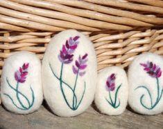 Felted Soap Summer Lavender Hand Felted Set Of 4 Bars