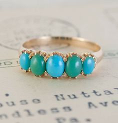Victorian Turquoise Cabochon Ring, $695.
