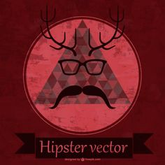 Free hipster vector design Free Vector