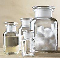 $55 :: Clear Glass Pharmacy Bottles Set of 3