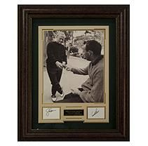 THE LOST BET Jack Nicklaus & Arnold Palmer Autographed Framed Dislay