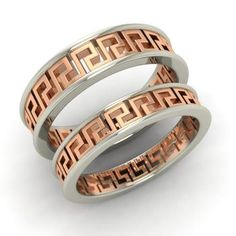 Couples Band in 14k White Gold