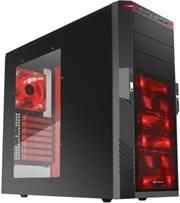 "Sharkoon T9 Value Edition-Gaming ATX Midi Tower Case-2x 5.25"" drive bays (external)-6x 3.5"" HDD bays (internal)2x 2.5""/3.5 ""HDD bays (internal)2x USB3.0,2x USB2.0, 2x audio Connectors,Mesh front panel,Dimensions: 475x200x440 mm-Black with Red LEDs, Retail Box , 1 Year warranty"