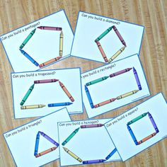 Building Shapes with Crayons STEM Task Cards - JDaniel4s Mom