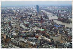 View from Frankfurt Main Tower  Frankfurt z wysokości - widoki z Frankfurt Main Tower