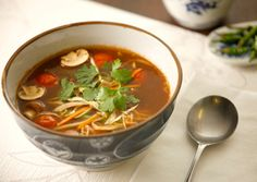 Blue Dragon - Thai style Vegetarian Hot and Sour Soup Recipe