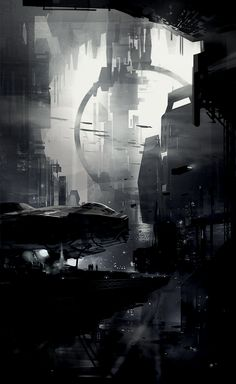 Cyberpunk Atmosphere, Future, Futuristic, Sci-Fi, concept ships: Concept ships by Daryl Mandryk concept art Concept Art Landscape, Fantasy Landscape, City Landscape, Landscape Architecture, 3d Fantasy, Fantasy World, Sci Fi Stadt, Art Conceptual, Science Fiction Kunst