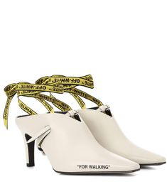 OFF-WHITE | For Walking leather mules #Shoes # Mules #OFF-WHITE
