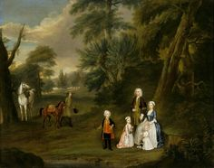Outdoor Conversation Piece of Thomas Hill (Harwood) (1693–1782), and His First Family