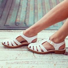 cute old school classic sandals
